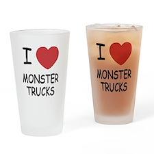 I heart monster trucks Drinking Glass