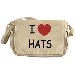 I heart hats Messenger Bag