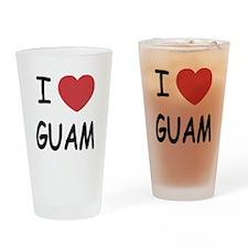 I heart guam Drinking Glass