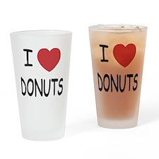 I heart donuts Drinking Glass