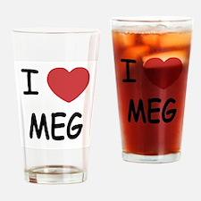 I heart meg Drinking Glass