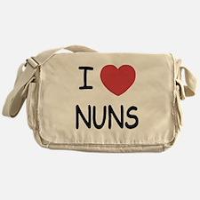I heart nuns Messenger Bag