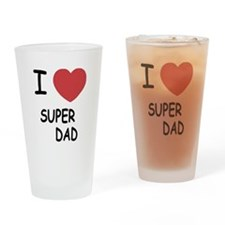 I heart super dad Drinking Glass