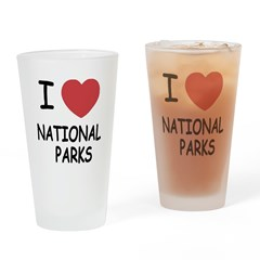 I heart national parks Drinking Glass