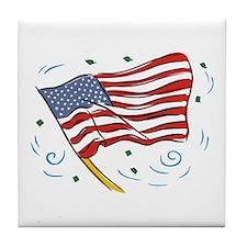 Grand Old Flag Tile Coaster