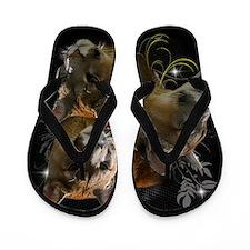 Cute Wildlife cougar Flip Flops