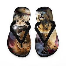 Funny African lion Flip Flops