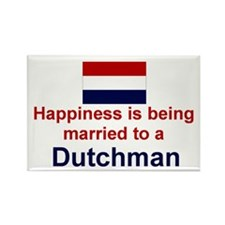 "Happily Married To Dutchman Magnet (3""x2"")"
