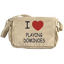 I heart playing dominoes Messenger Bag