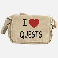 I heart quests Messenger Bag