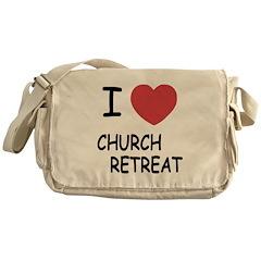 I heart church retreat Messenger Bag