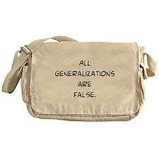 generalizations are false Messenger Bag