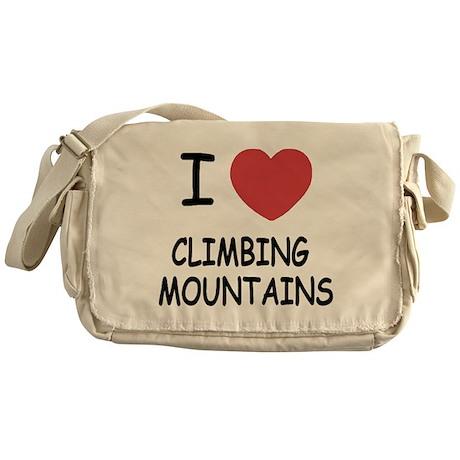 I heart climbing mountains Messenger Bag