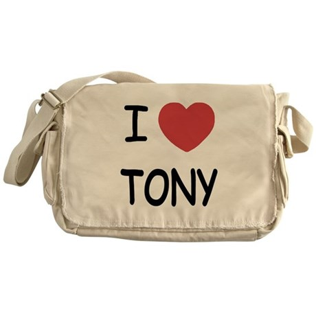 I heart tony Messenger Bag