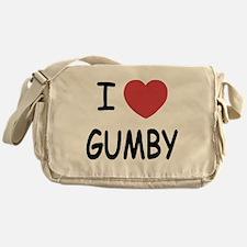 I heart gumby Messenger Bag