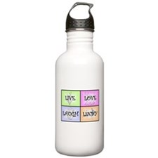 Live Love Laugh Lindy Water Bottle
