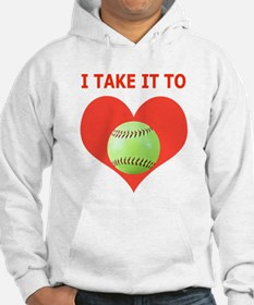 Softball, I Take It To Heart Hoodie