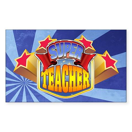 Super Teacher Sticker (Rectangle)