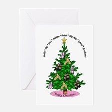 Unique Awareness christmas Greeting Card