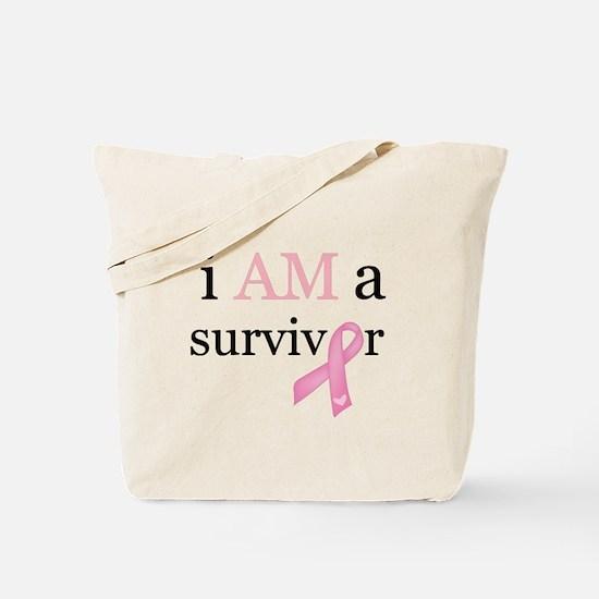 i AM a survivor (Pink) Tote Bag