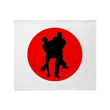 Red Moon Dancers Throw Blanket