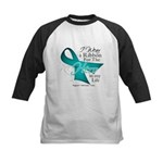 Ovarian Cancer Hero Kids Baseball Jersey
