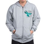 Ovarian Cancer Hero Zip Hoodie