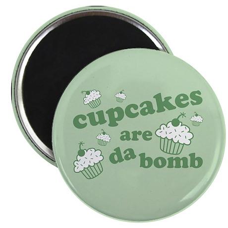 "Cupcakes Are Da Bomb 2.25"" Magnet (100 pack)"