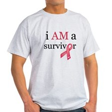 i AM a survivor (Red) T-Shirt