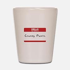 Hello My Name Is Cranky Pants Shot Glass