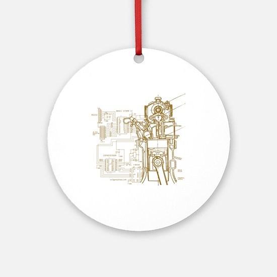 Mech tech engineering Ornament (Round)