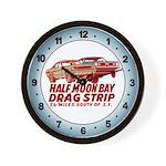 Half Moon Bay Drag Strip Wall Clock