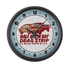 Half Moon Bay Drag Strip Large Wall Clock
