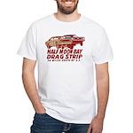 Half Moon Bay Drag Strip White T-Shirt