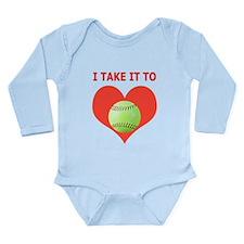 Softball I Take It To Heart Long Sleeve Infant Bod