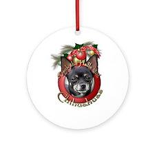 Christmas - Deck the Halls - Chihuahuas Ornament (