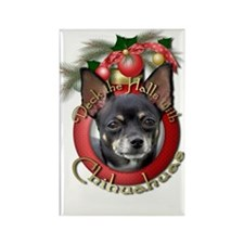 Christmas - Deck the Halls - Chihuahuas Rectangle
