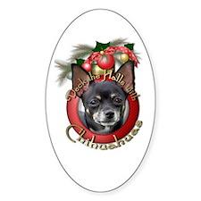 Christmas - Deck the Halls - Chihuahuas Decal