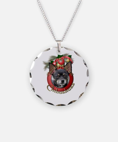 Christmas - Deck the Halls - Chihuahuas Necklace C