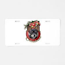 Christmas - Deck the Halls - Chihuahuas Aluminum L