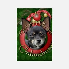 Christmas - Deck the Halls - Chihuahuas Rectangle