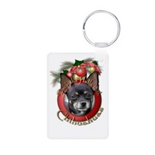 Christmas - Deck the Halls - Chihuahuas Aluminum P