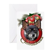Christmas - Deck the Halls - Chihuahuas Greeting C