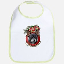 Christmas - Deck the Halls - Chihuahuas Bib