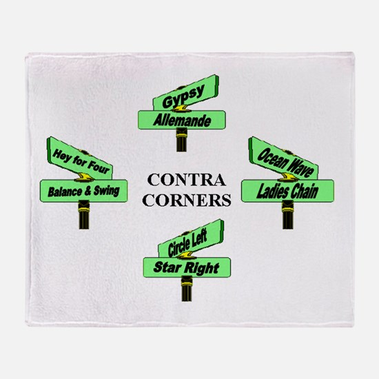 Contra Corners Throw Blanket
