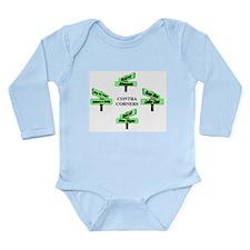 Contra Corners Long Sleeve Infant Bodysuit