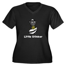 Little Stinker Skunk Women's Plus Size V-Neck Dark