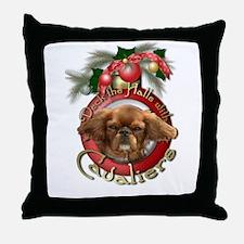 Christmas - Deck the Halls - Cavaliers Throw Pillo