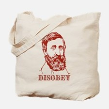 Thoreau Disobey Tote Bag