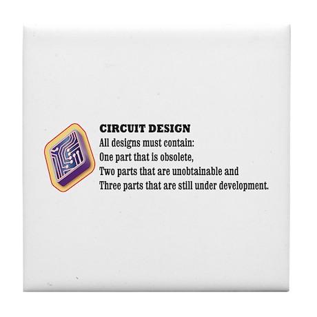 Circuit Design Tile Coaster